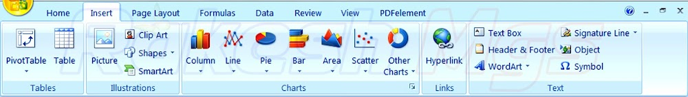 How to Use Microsoft MS Excel 2007 Insert Menu in Hindi Complete Notes | Using Insert Menu in MS Excel