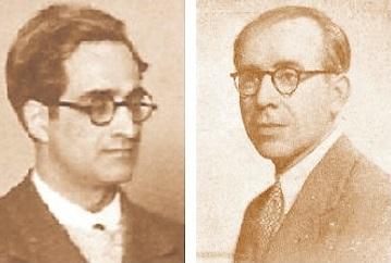 Los ajedrecistas Dr. Július Sunyer y Francesc Armengol