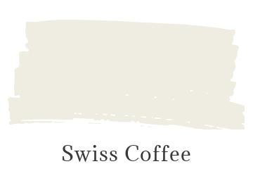 Benjamin Moore Swiss Coffee color swatch