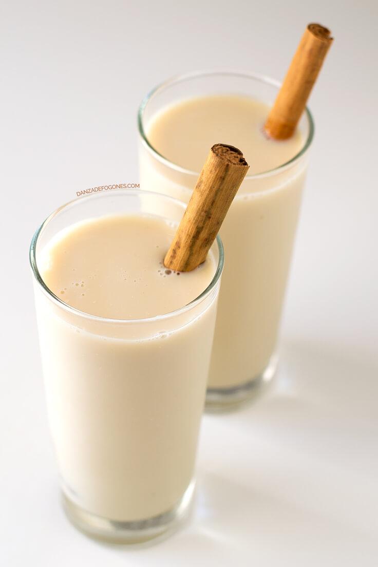 Healthy And Light Vegan Meringue Milk