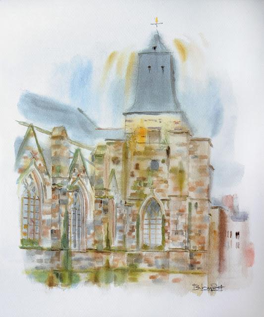 « L'Église Saint-Germain - Façade nord » par Bernard Louviot