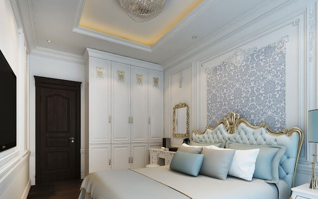 Thiết kế nội thất phòng ngủ The Emerald