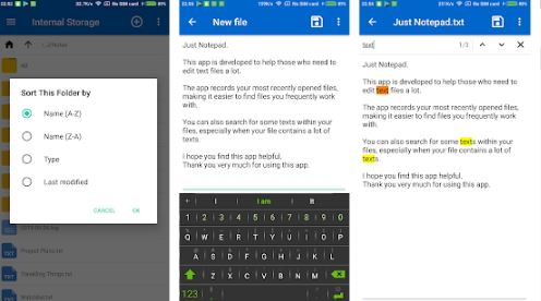 notepad app free and file browser apk