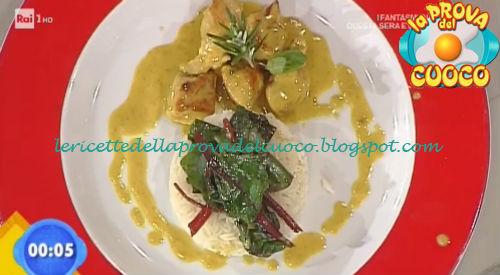 Bocconcini di tacchino al curry con riso basmati ricetta Fava da Prova del Cuoco