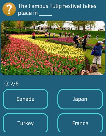 The Famous Tulip festival takes place in _____