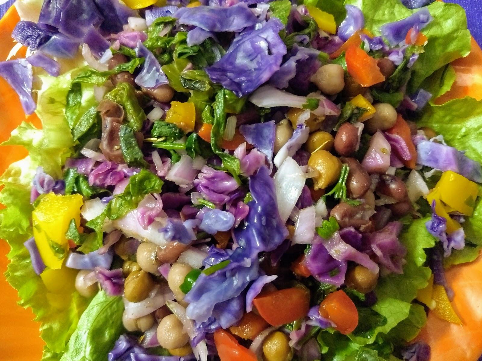 Healthy colourful veggie three bean salad recipe – Shilpi Kitchen