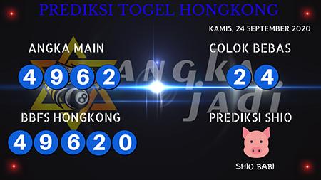 Prediksi Angka Jadi HK Malam Ini 24 September 2020