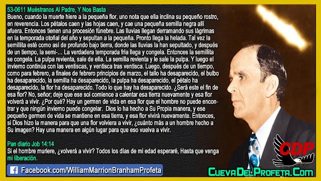 Si el hombre muriere volverá a vivir - William Branham en Español