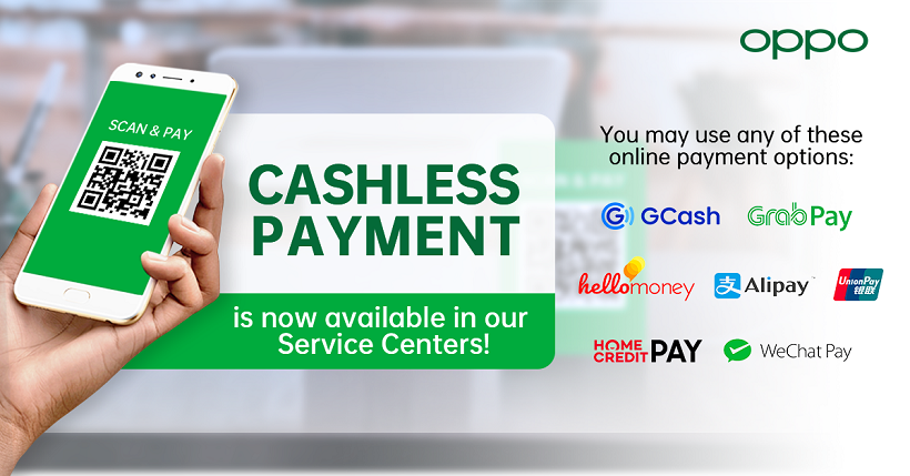 OPPO Service Centers now accept Cashless Payment Transactions