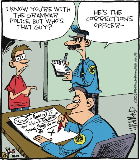 Mystery fanfare cartoon of the day grammar police cartoon of the day grammar police thecheapjerseys Images