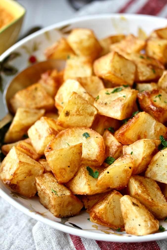Patatas Bravas with Tomato Aioli