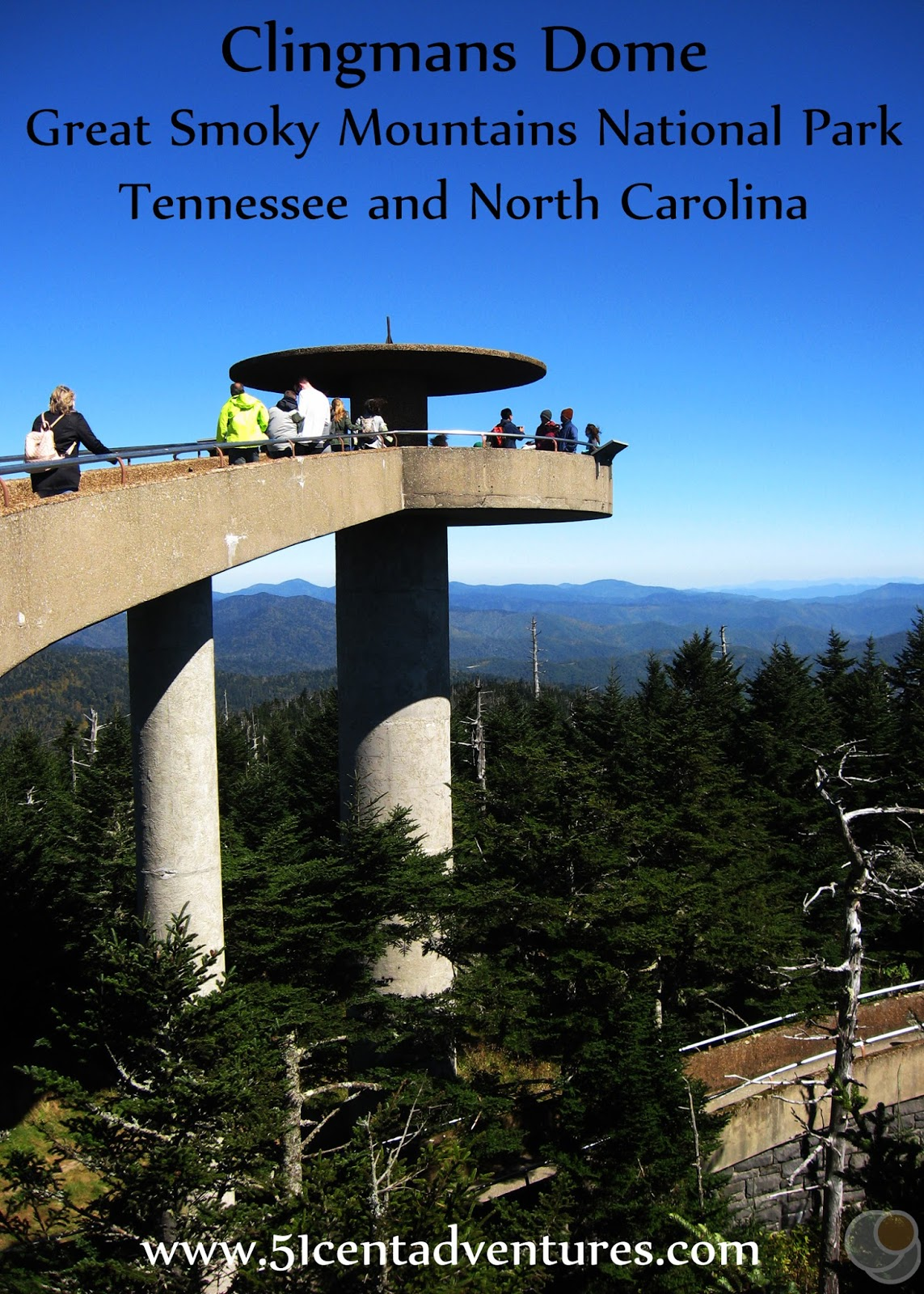 51 Cent Adventures: Clingmans Dome - Great Smoky Mountains ...