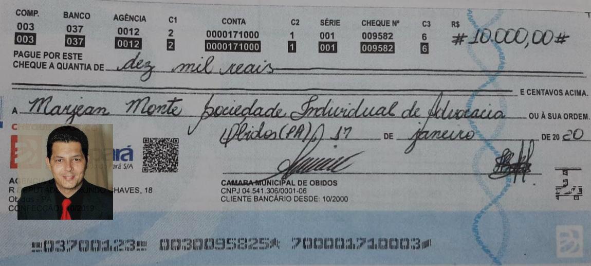 Câmara de Óbidos paga R$ 10 mil a advogado por parecer 'meia boca' contra o TCM