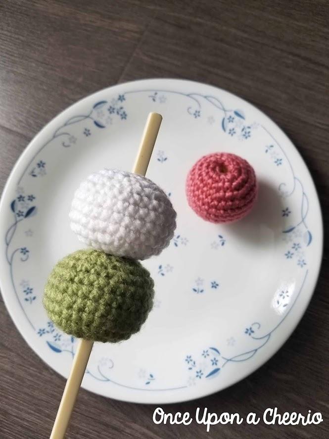 Japanese Dango Amigurumi Food FREE Crochet Pattern