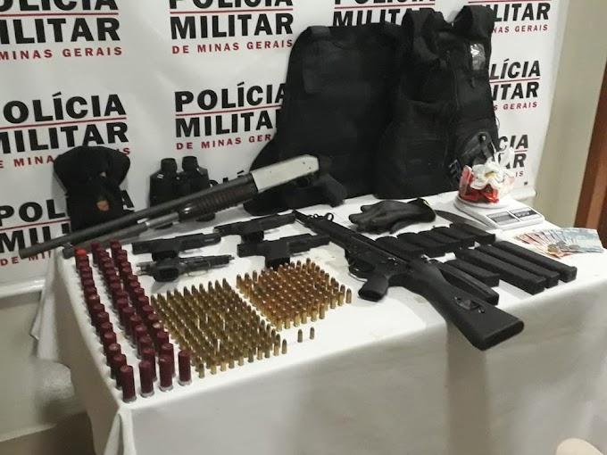 Quadrilha envolvida em homicídios no Vale do Aço é detida; seis armas são apreendidas