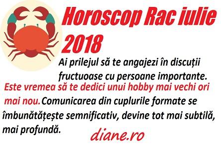 Horoscop Rac iulie 2018