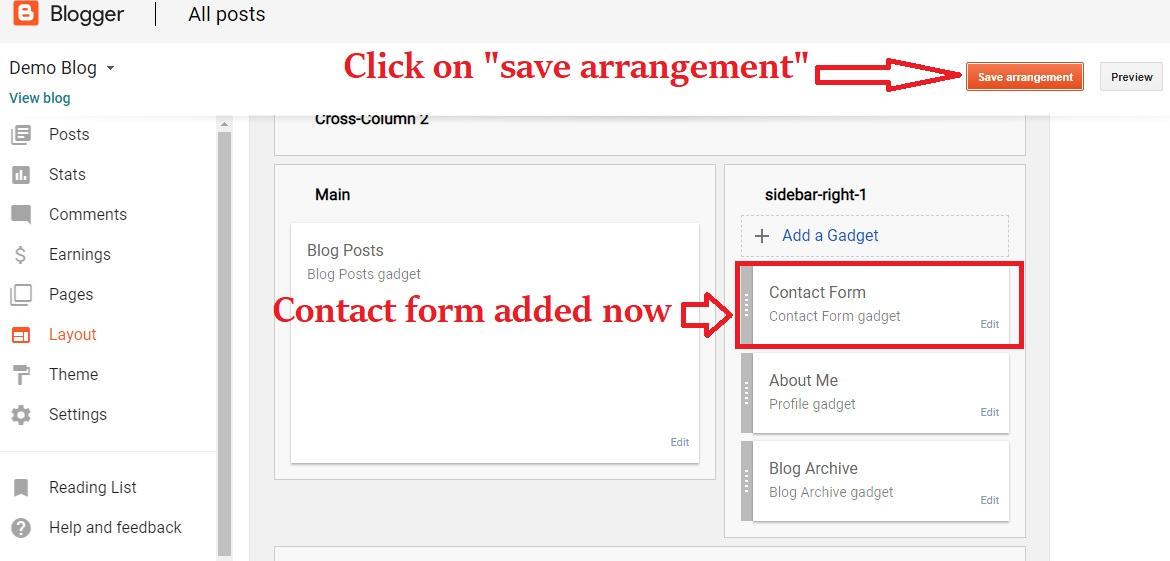How To Create Contact Us Page In Blogger Blog