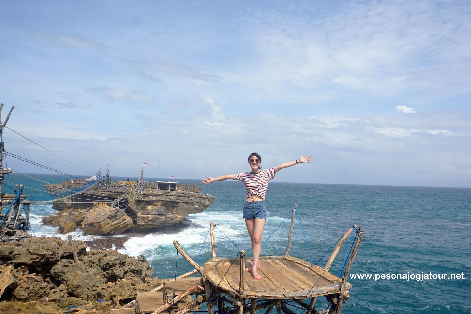 Spot foto pantai Timang
