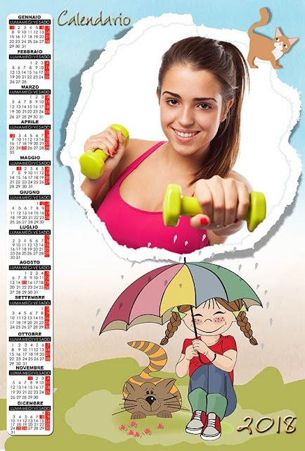 Calendario per bambini con spazio per 1 fotografia tonda