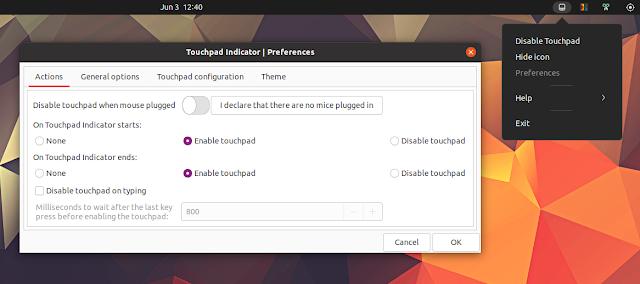 Touchpad Indicator