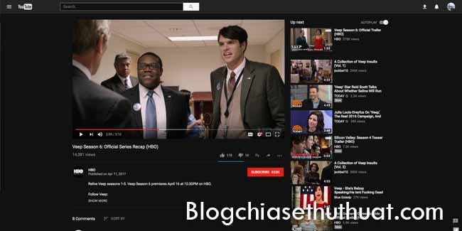 Chuyển giao diện Youtube sang màu đen nhanh chóng