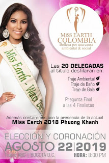 MISS EARTH COLOMBIA 2019