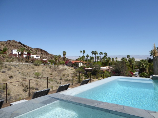 Palm Springs pool view