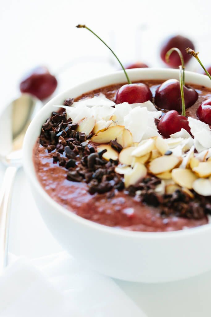 Dark Cherry Smoothie Bowl | Find 11+ Vegan Smoothie Bowls To Make Again and Again | nondairy smoothies | vegan recipes smoothies | vegan smoothies healthy | vegan smoothie recipes healthy #cleaneating #healthy #veganfood #smoothie