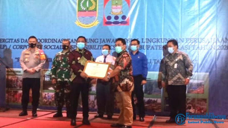 SMSI Bekasi Raya Menerima Penghargaan CSR dari Pemerintah Kabupaten Bekasi