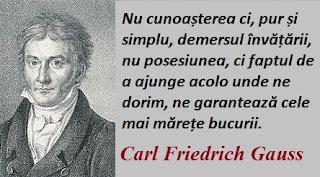 Citatul zilei: 30 aprilie - Carl Friedrich Gauss
