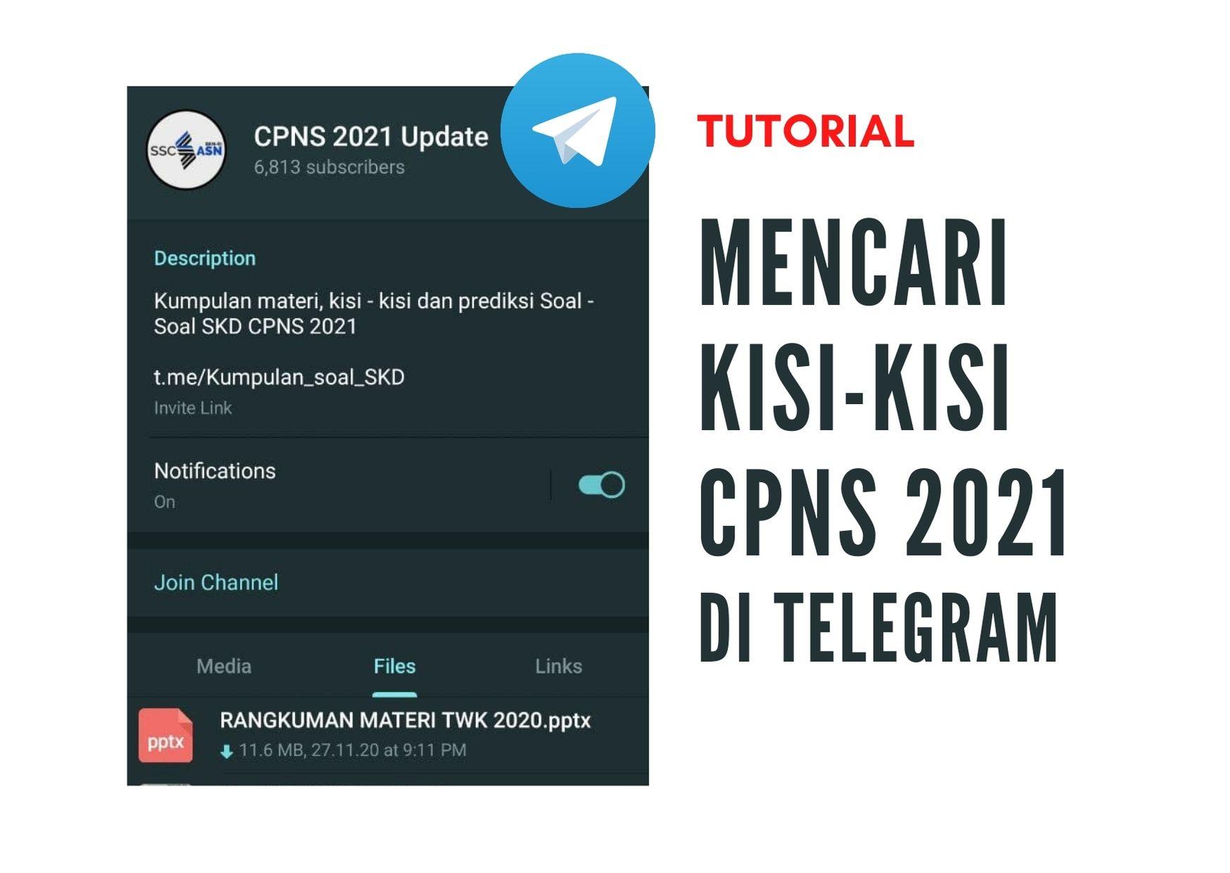 Cara Mencari Kisi Kisi Soal Cpns 2021 Di Grup Telegram Viralnesia