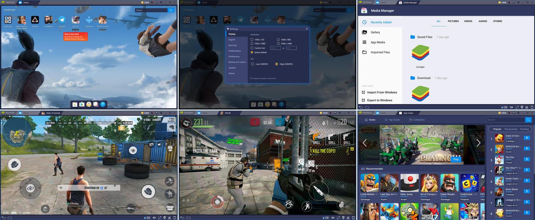 لقطات شاشة لبرنامج بلوستاك Bluestack للكمبيوتر 2021