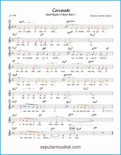 chord corcovado lagu jazz standar