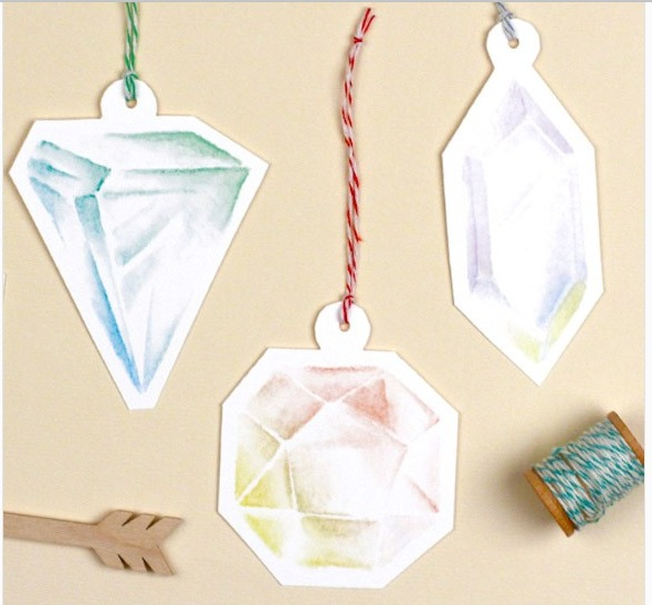 Gemstone Gift Tag Printables
