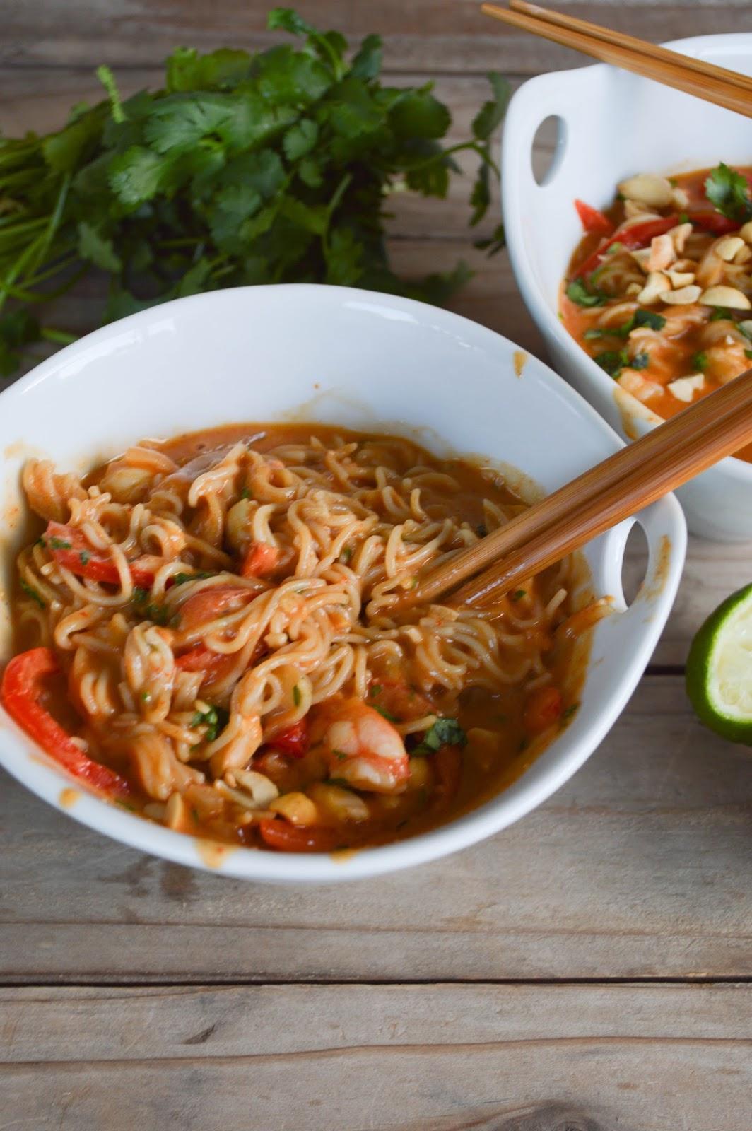 how to make ramen shrimp