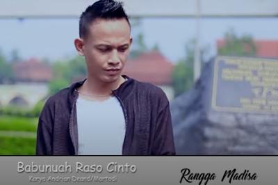 kumpulan lirik lagu Rangga Madisa - Babunuah Rasa Cinto