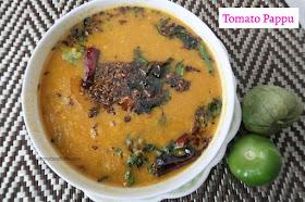 Tomato Pappu/ Tomatillo Pappu/  Thakkali paruppu kadaiyal/ Green tomato dal