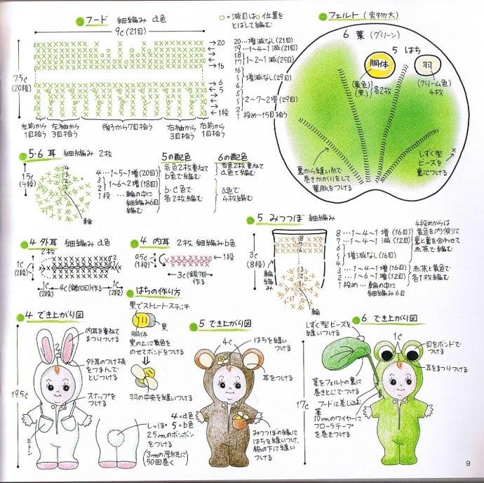 Вязаная одежда для маленьких кукол. Схемы (6)