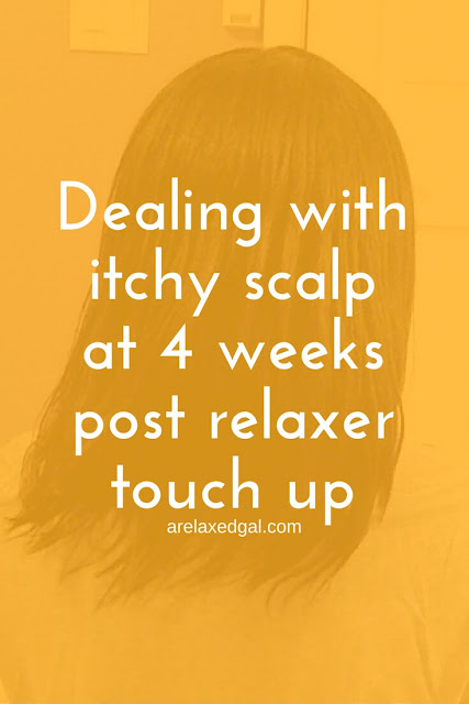 Relaxed Hair Wash Day: 4 Weeks Post Relaxer Touch Up | arelaxedgal.com
