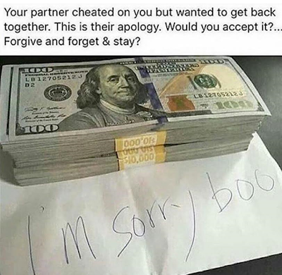 Would you forgive, forget and stay?