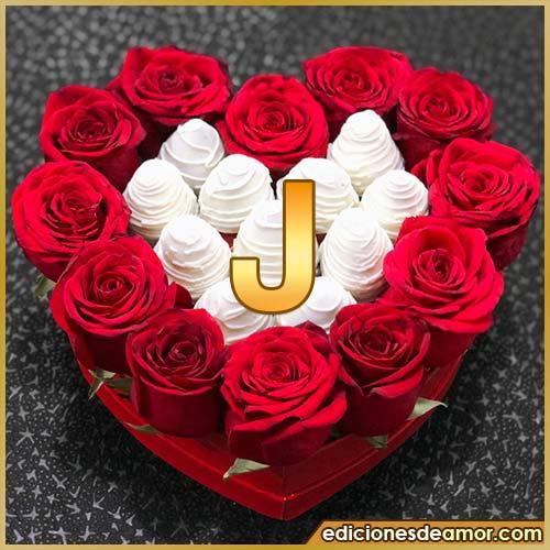 corazón de rosas rojas J