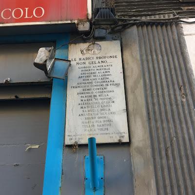 Piazza Tuscolo targa Movimento Sociale Italiano