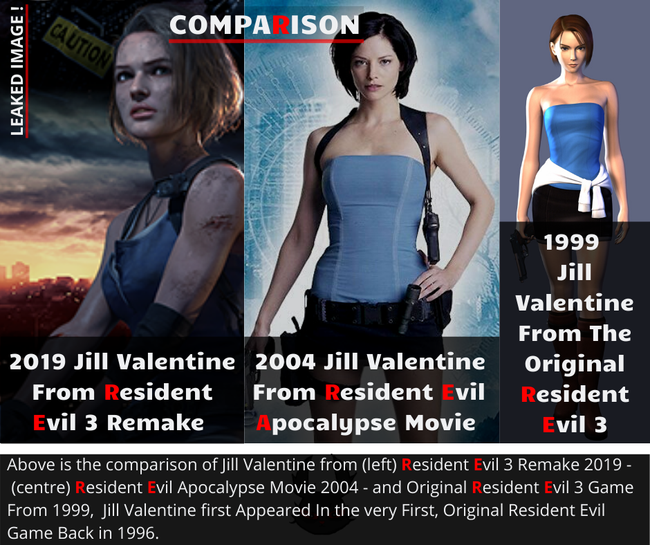 Jill Valentine Comparison Carlos Olivera From Resident Evil 3