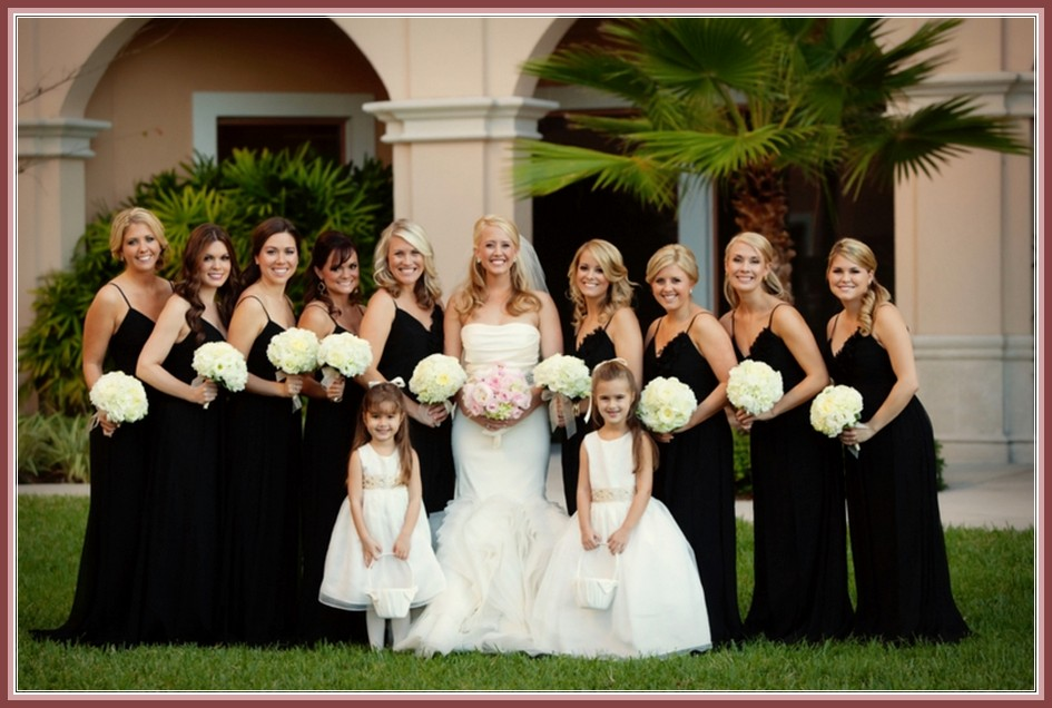 Black Bridesmaid Gowns With Nice Personality Style