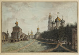 Monastery of the Trinity and St Sergius by Fyodor Alekseyev - Architecture, Landscape Drawings from Hermitage Museum