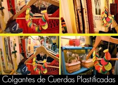 Como hacer Colgantes de Cuerdas Plastificadas