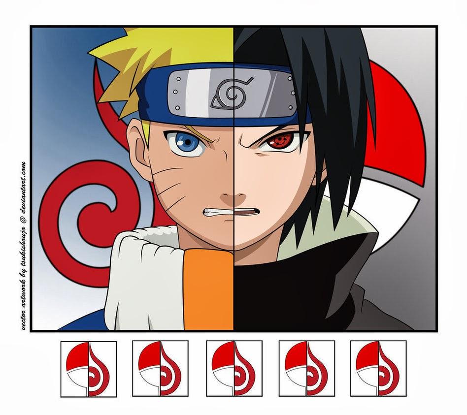 Naruto: Gambar Naruto Vs Sasuke