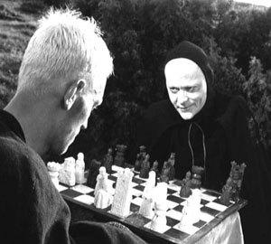 Schack (ajedrez) är ett spel som uppfanns av araberna. Det är okänt om araberna spelade med döden.