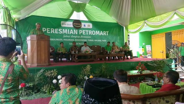 PT Petrokimia Gresik Resmikan Gerai Pertanian Petromart di Probolinggo