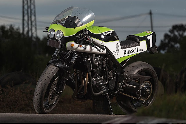 Triumph Speed Triple 1998 By Russell Mecanica Hell Kustom